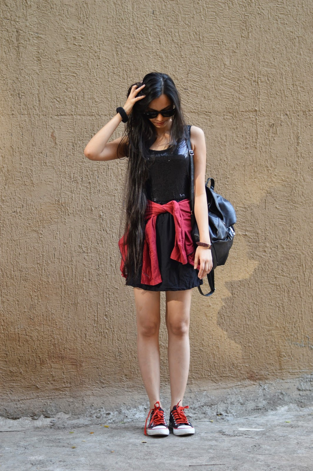 mumbai fashion blogger, sequins, how to wear sequins during the day, sequins at daytime, foldable raybans, converse, punk rock, how to wear converse with dresses, fashion blogger