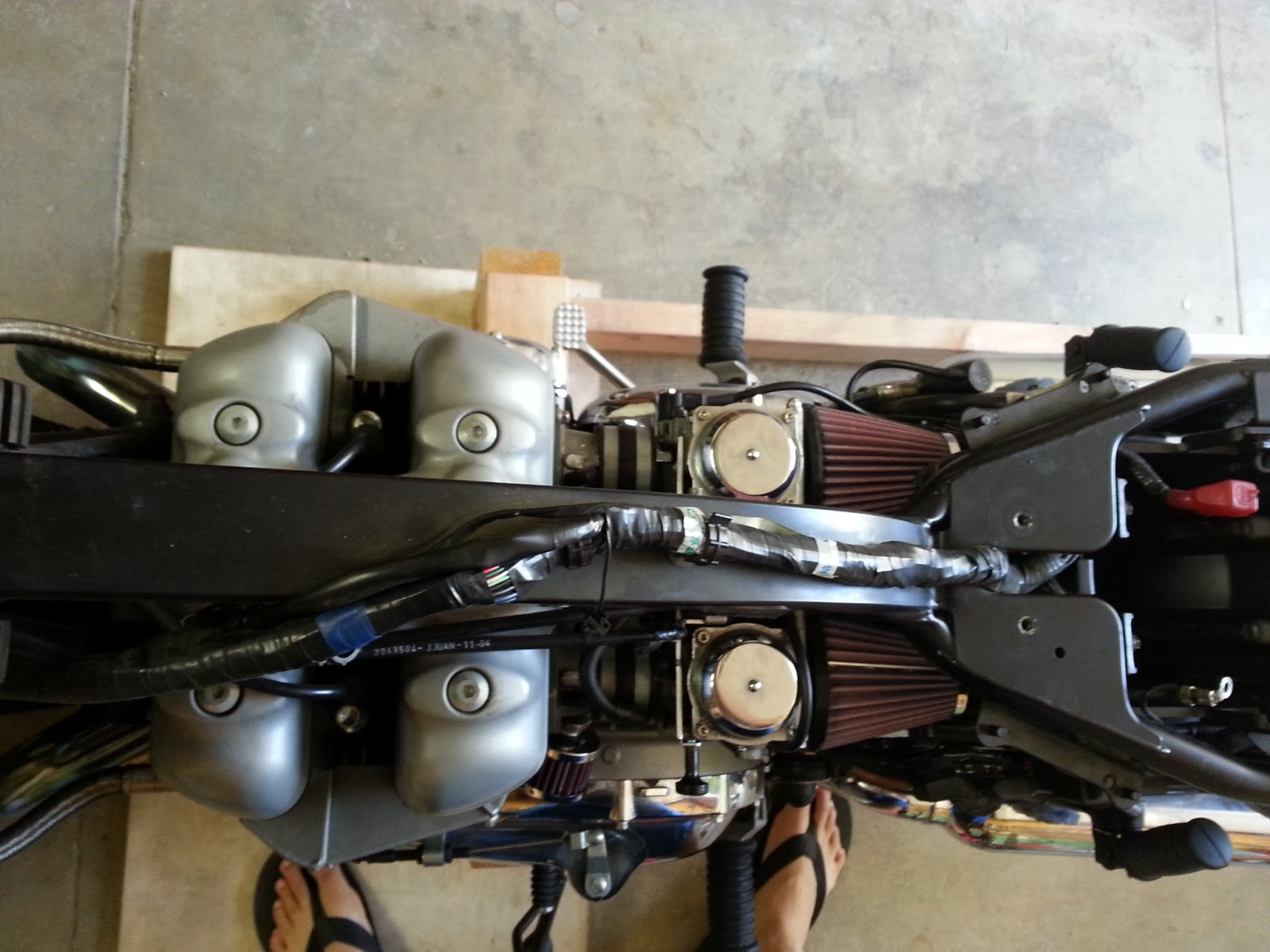 dkudrow  Triumph Bonneville DIY Air injection and Airbox Removal
