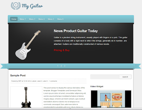 My Guitar Blogger Theme