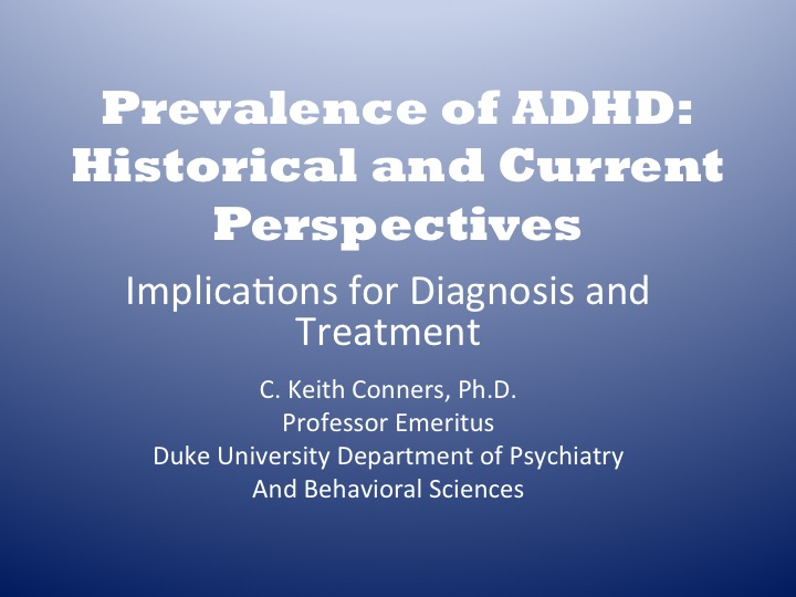 adhd diagnosing and treating essay
