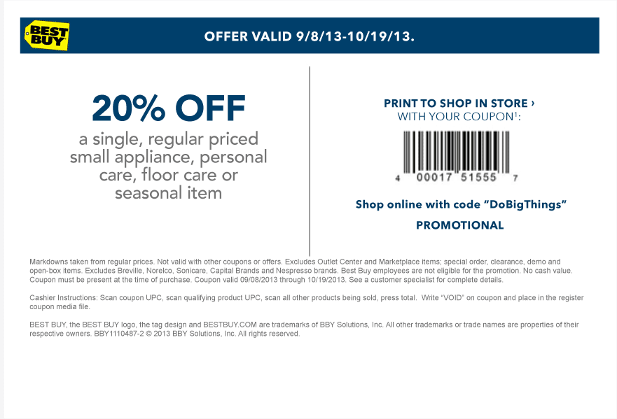 Bestbuy discount coupon