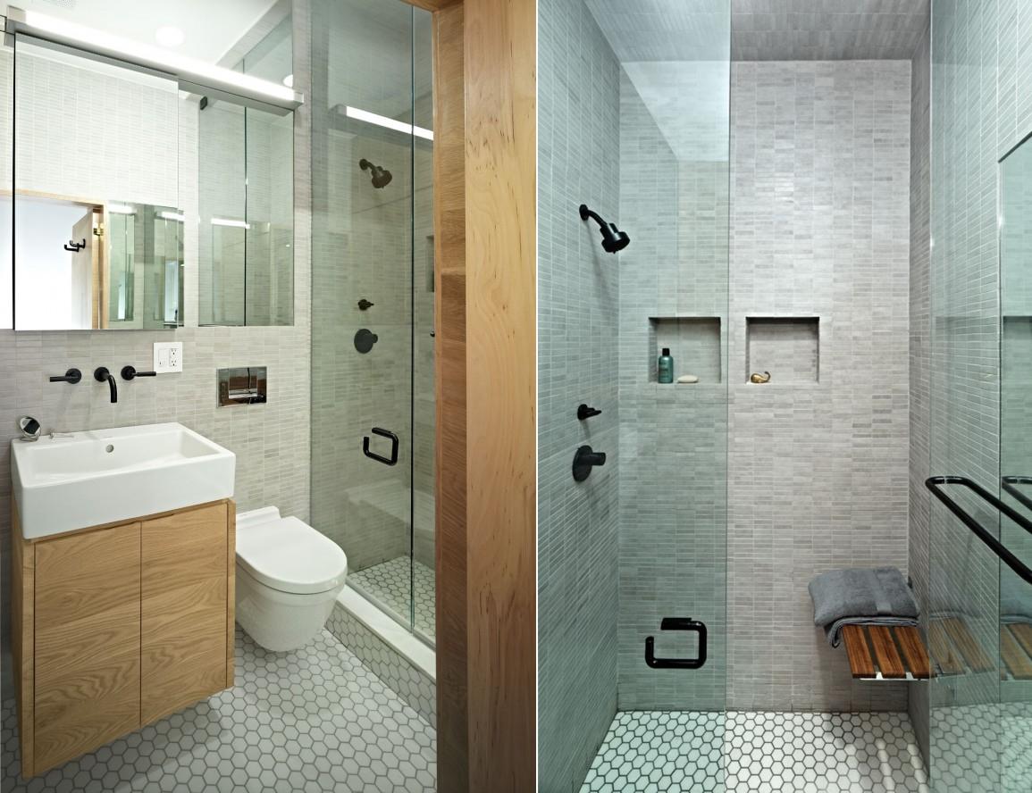 pequeno banheiro pequeno Jordan Parnass Digital Architecture.jpg #63492F 1155x888 Banheiro Com Banheira Pequeno