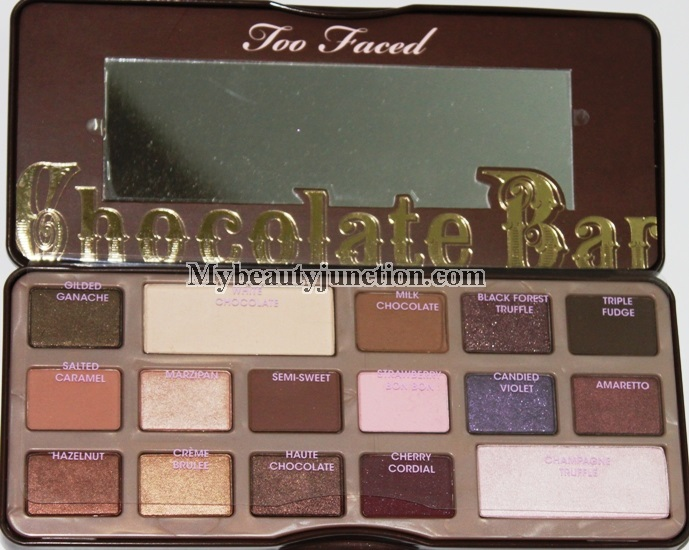 Too Faced Chocolate Bar Eyeshadow palette review, swatches, photos ...