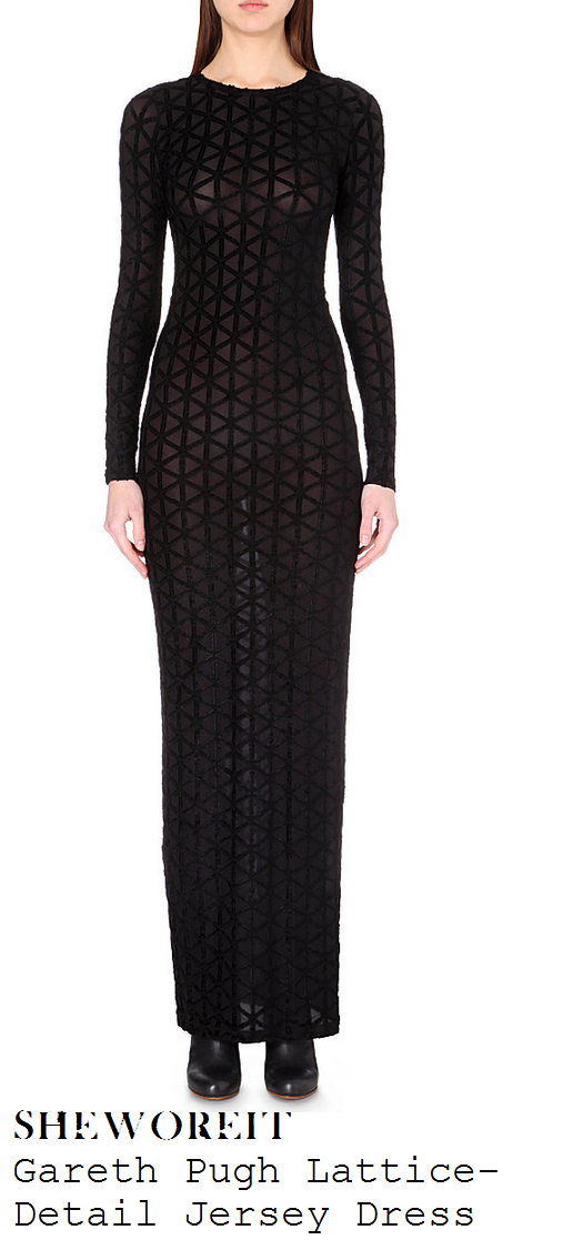 lauren-pope-black-sheer-criss-cross-lattice-long-sleeve-maxi-dress-ntas