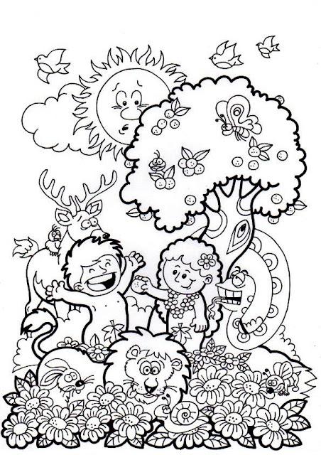 El rinc n de las melli agosto 2013 for Adan y eva en el jardin del eden para colorear