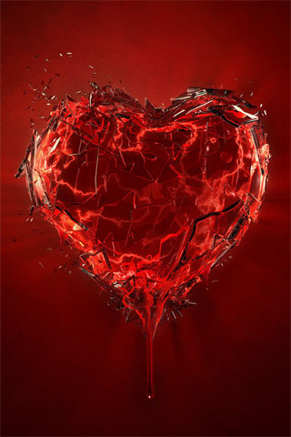 Wallpapers De Corazones. corazones rotos de amor