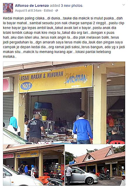 PANAS! Kedai Makan 'Popular' Di Klebang Guna Bahasa Kasar Dengan Pelanggan