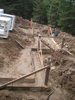 Footings formed, lake home construction, http://huismanconcepts.com/