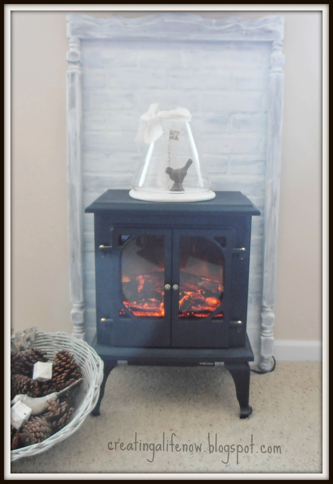 creating a life the faux fireplace mantel