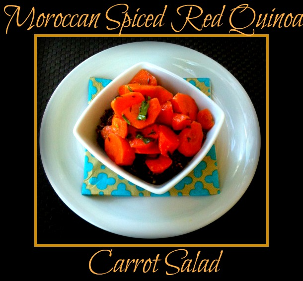 Moroccan Spiced Red Quinoa & Carrot Salad