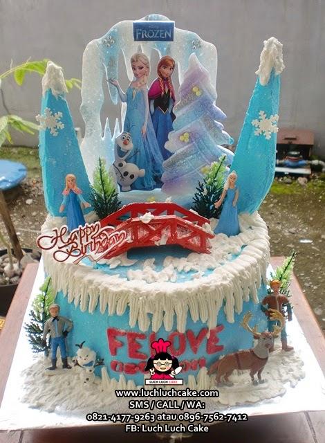 Kue Tart Frozen Elsa and Anna Daerah Surabaya - Sidoarjo