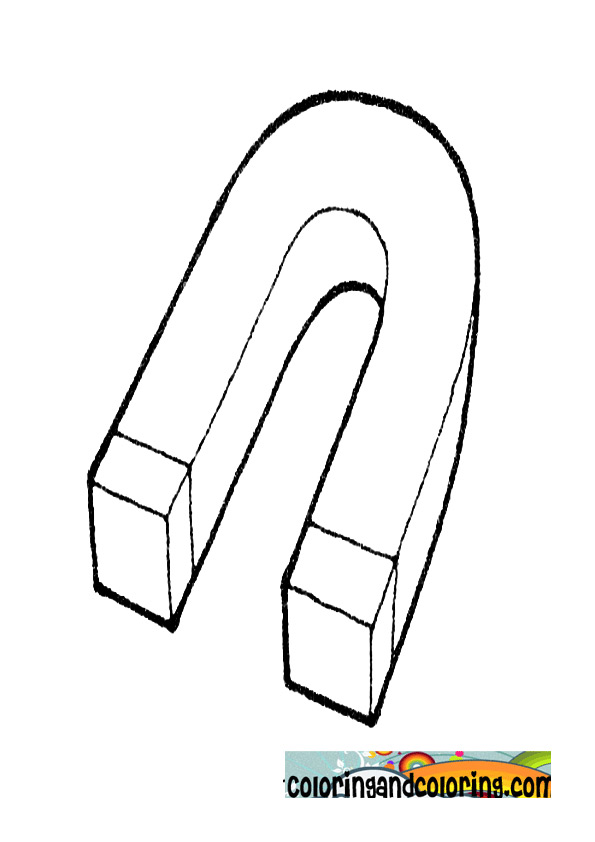 Magnet Coloring Pages Horseshoe Page