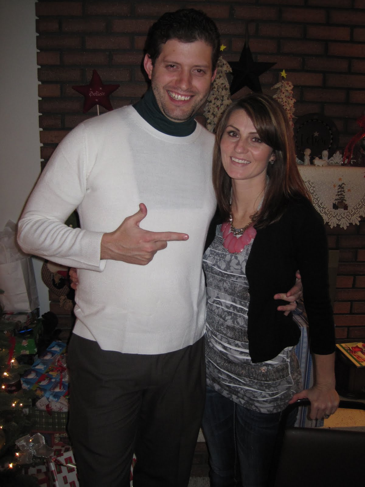 dont you just love cousin eddyjeremy thought it would be funny to show up at his moms with his sweet womans sweater and dicky on