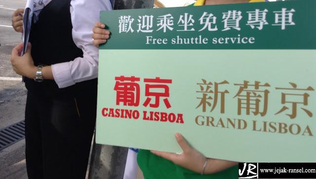 """Grand Lisboa Macau, Free Shuttle Service"""