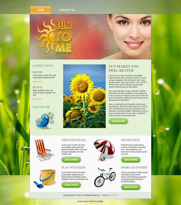 SunToMe - Free Drupal Theme