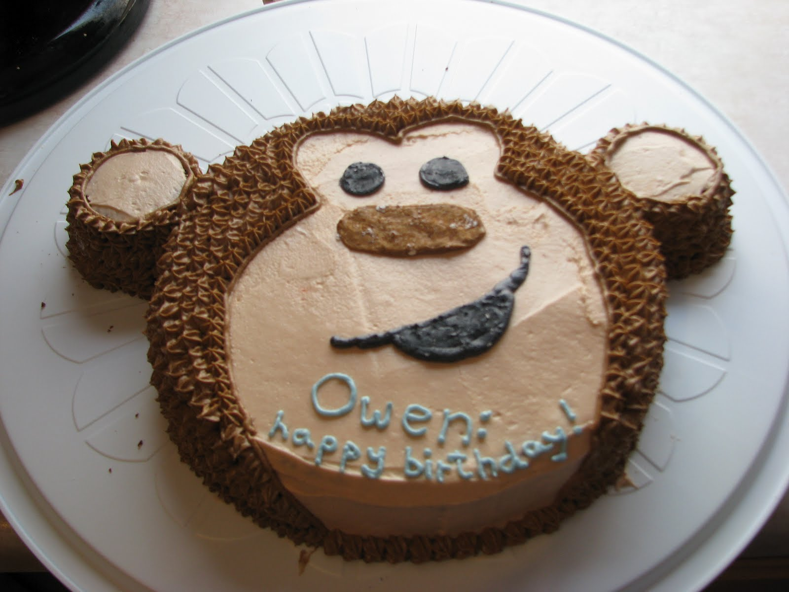 how to make a monkey face cake