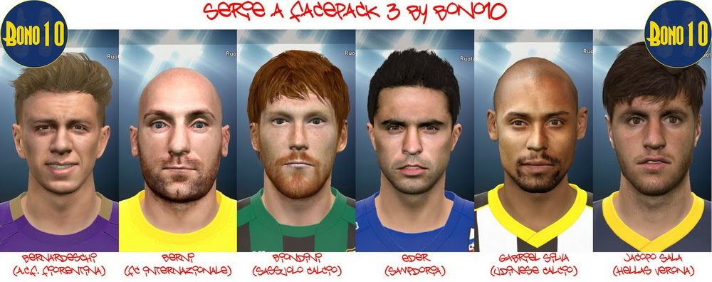 PES 2015 Serie A Facepack 3 by Bono10