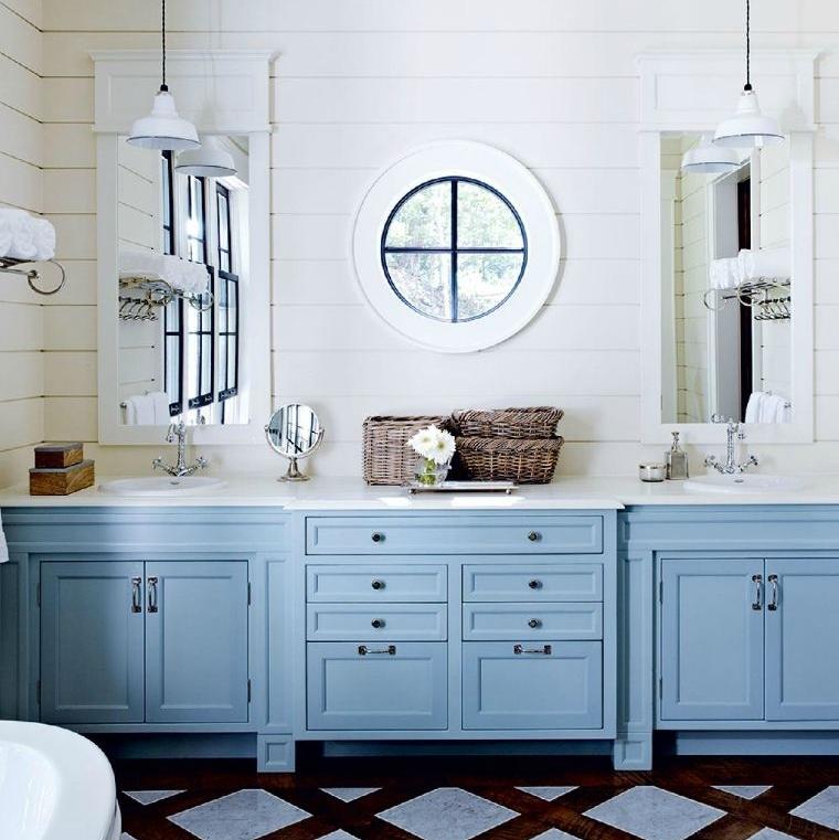d co refaire sa salle de bain dans un esprit m diterran en moderne paris la douce. Black Bedroom Furniture Sets. Home Design Ideas
