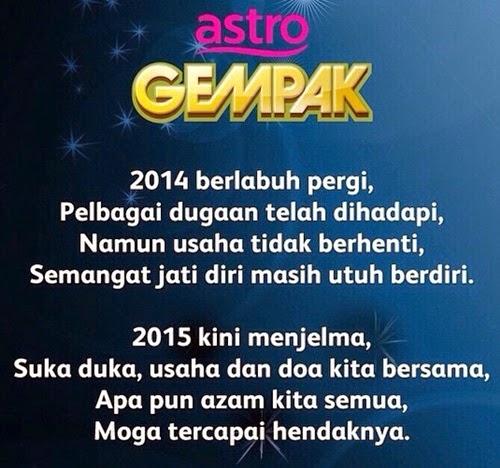 Pantun Ucapan Selamat Tahun Baru Astro Gempak, pantun tahun baru, sambutan tahun baru 2015