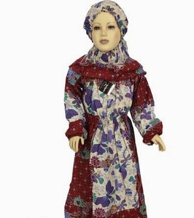 Model baju batik muslim putri terbaru