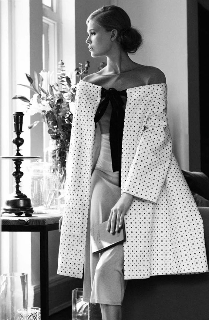 Vita Sidorkina in Life in mono / L'Officiel Singapore March 2012 (photography: Wee Khim, styling: Johnny Khoo) / Lagrfeld quotes / via fashioned by love / british fashion blog