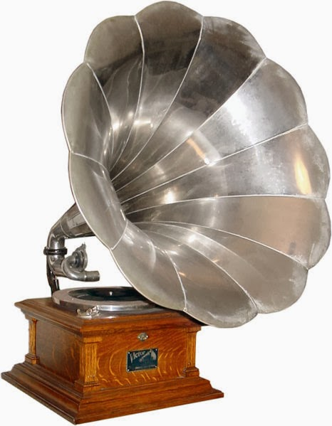phonograph victor vintage antique record horn music