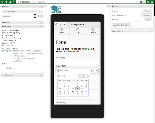 How to create a jQuery Mobile Form   2