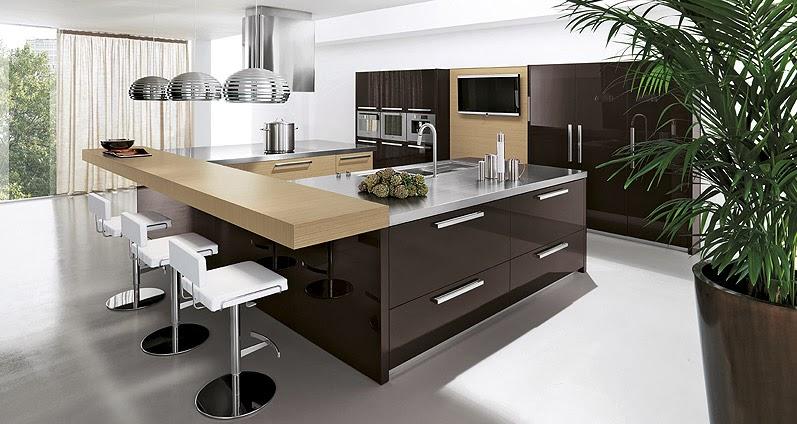 Materiales para cocinas ii lacados los m s vers tiles for Muebles de cocina oscuros