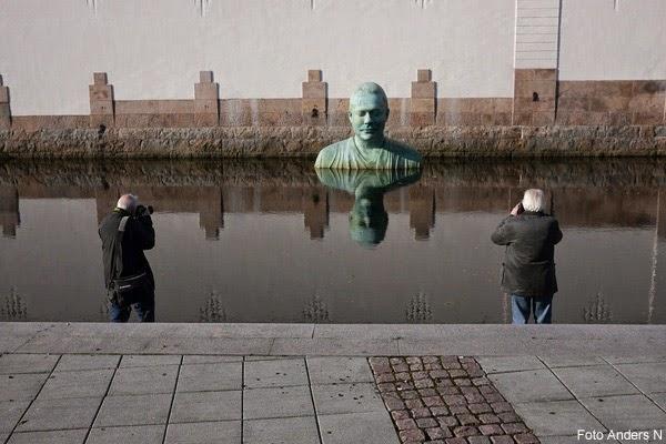Borås, VIskan, staty, skulptur, vattnet, ån, floden, Bodhi, Fredrik Wretman