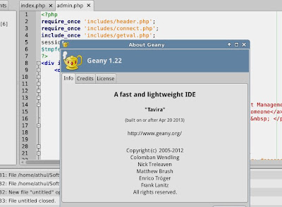 geany developer tool code editor