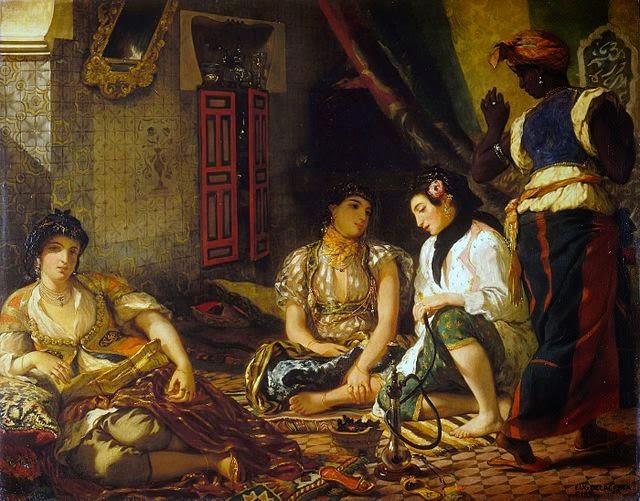 Eugene Delacroix - Femmes d'Alger dans leur appartement,1834.