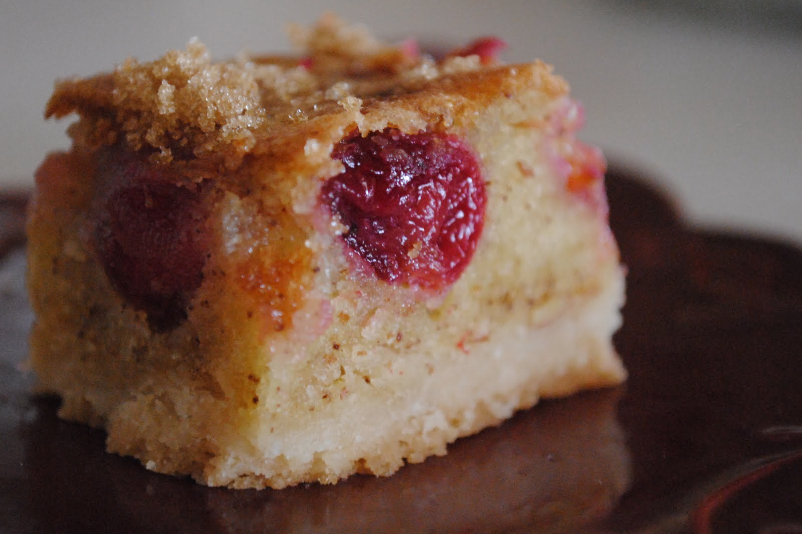 Delicious Dixie: cherry brown butter bars