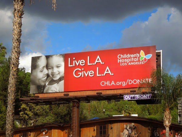 Live Give LA Children's Hospital billboard
