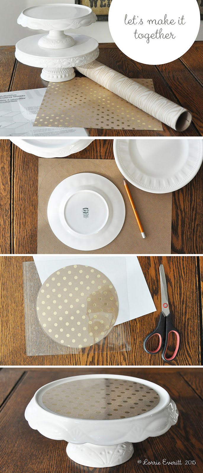 diy decorative cake stand liner tutorial | Lorrie Everitt Studio