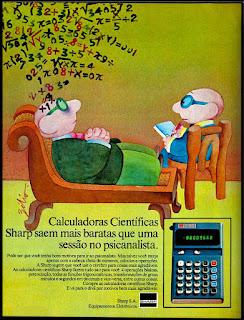 Sharp;  anos 70.  década de 70. os anos 70; propaganda na década de 70; Brazil in the 70s, história anos 70; Oswaldo Hernandez;