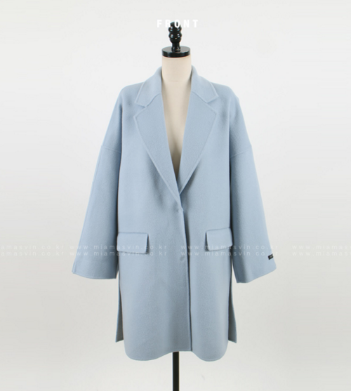 Single Breasted Drop Shoulder Coat