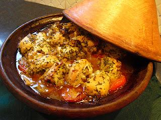 Tajine de poulet à la coriandre