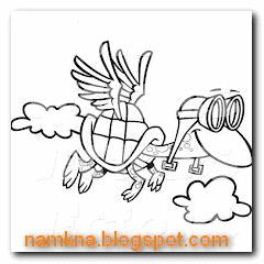 Rùa học bay - Truyện ngụ ngôn