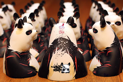 Silent Stage Gallery: Gazer Panda Resin Bust by Angry Woebots