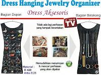 gambar Dress hanging jewelry organizer,gambar gantungan baju perhiasan