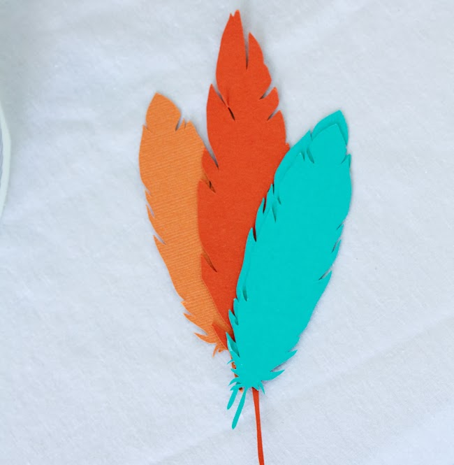 silhouette cameo feathers
