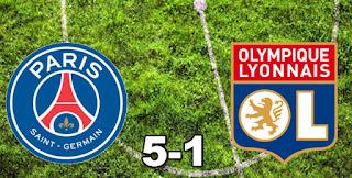 PSG 5-1 Lyon