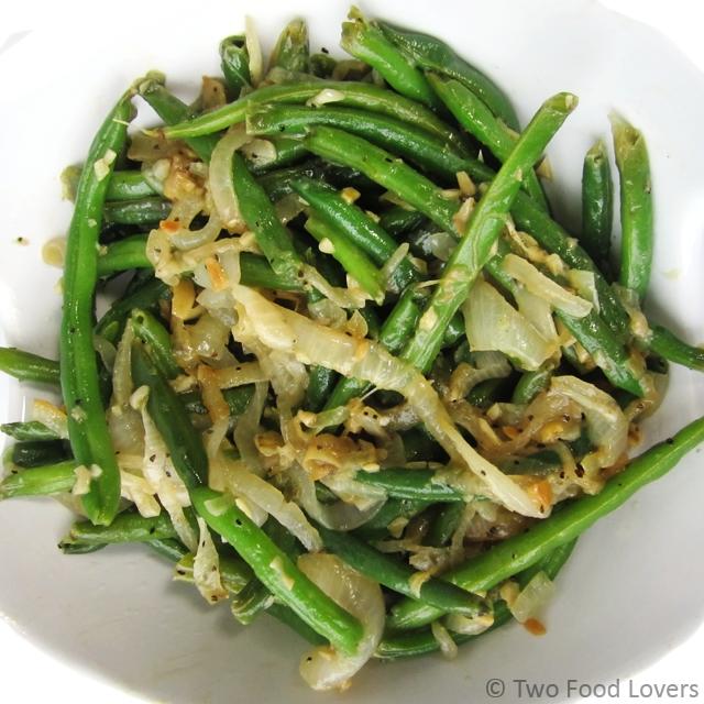 Carmelized Onion & Garlic Green Beans