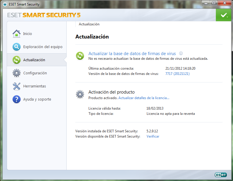 ESET Smart Security 5.2.9.12 + Buscador Licencias Activas