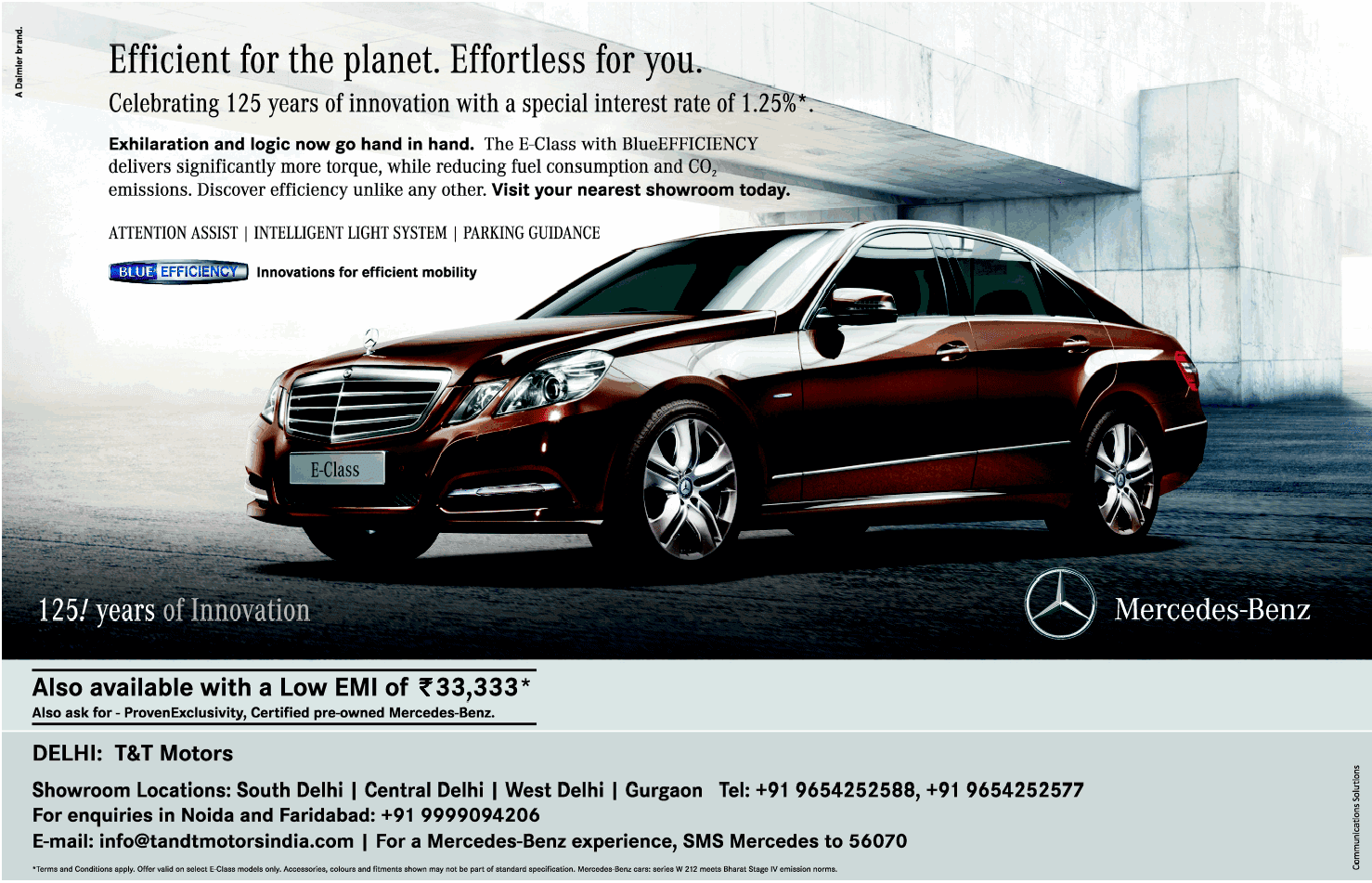 Print Ads: Mercedes Benz ad - E-Class. Effiecient for the ...