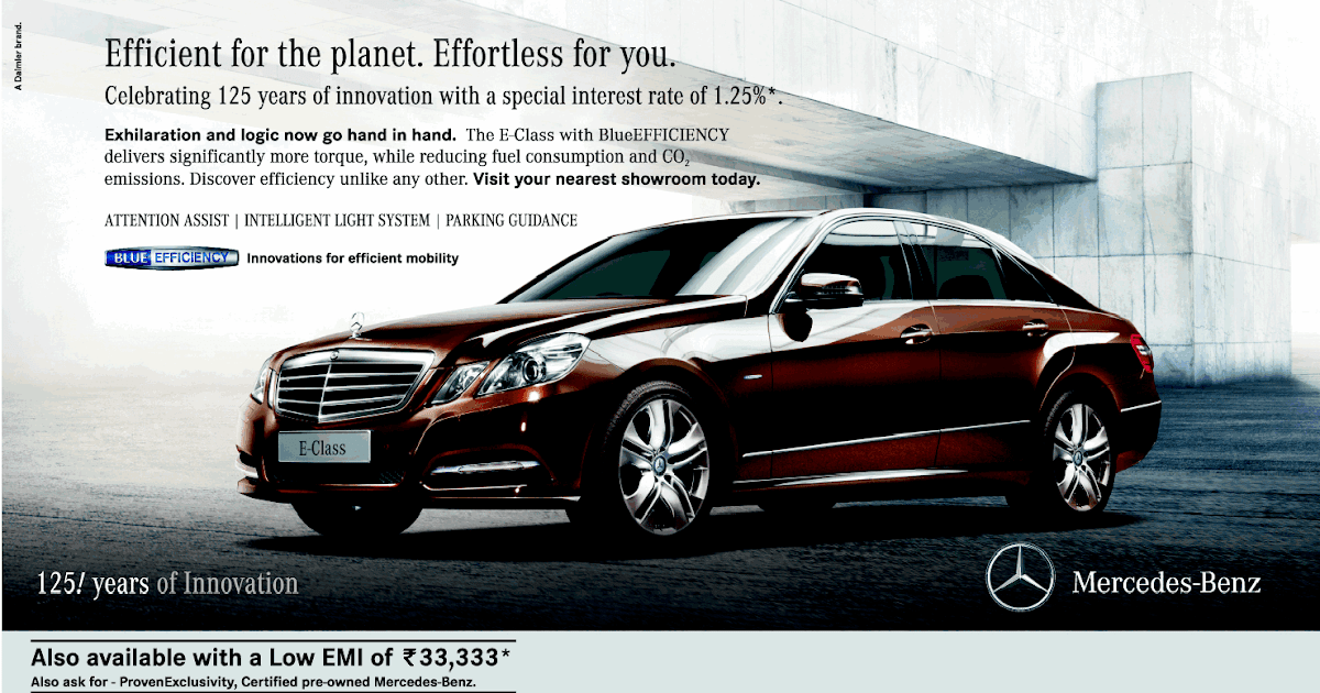Print Ads Mercedes Benz Ad E Class Effiecient For The