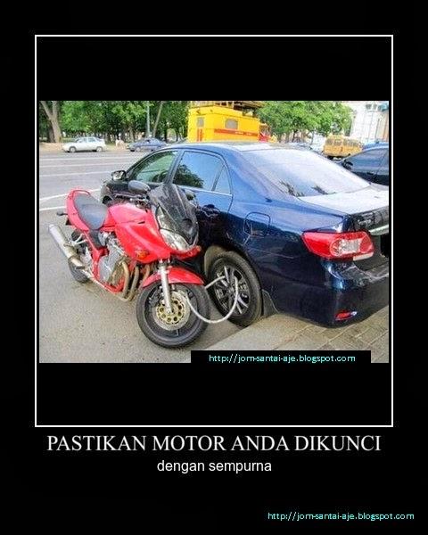PASTIKAN MOTOR ANDA DIKUNCI