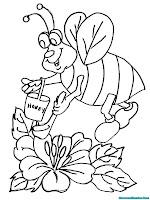 Mewarnai Gambar Lebah Madu