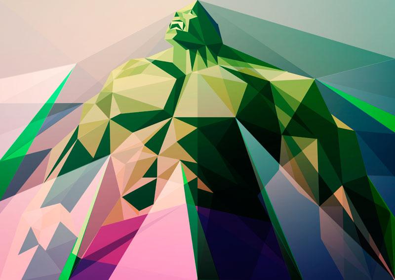 Liam Brazier. SuperHéroes Geometricos