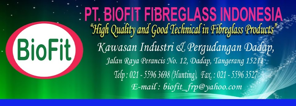 Chemical Storage Tank, Water Storage Tank, BioFit Fibreglass Indonesia